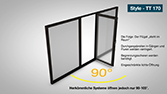 WSS Fenster, Konkurrenz - 3D Animation mit Tracking, für Landing-Page