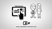 up2date Software, Personalmanagement - Video-Präsentation mit Bildschirm, für Internet